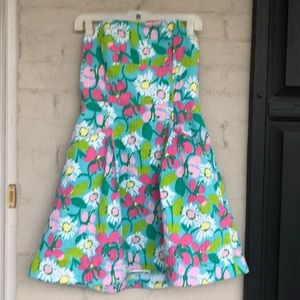 Lilly Pulitzer sweetheart neck strapless dress